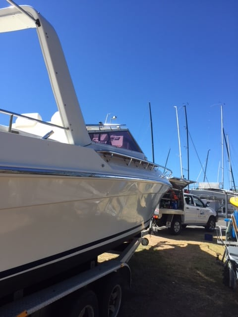 Scarab 30ft -Detailed by The Boat Care Company, Manly Brisbane