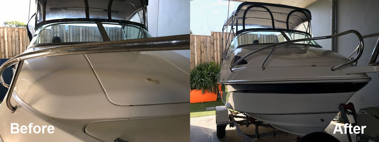 Stainless Steel Rust Removal and Polish Mustang 1600-The Boa Care Company Before & After
