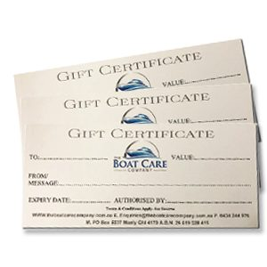 Gift Certificate for Boaties, Boat Owners from The Boat Care Company based in Manly in Brisbane Qld.