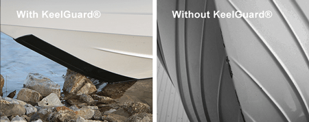 KeelGuard®, the powerful abrasion-resistant protector, prolongs the life of your boat like nothing else.